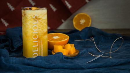 酸甜芒果柳橙汁, 美味鲜榨果汁, 做法简单, 孩子也爱喝!