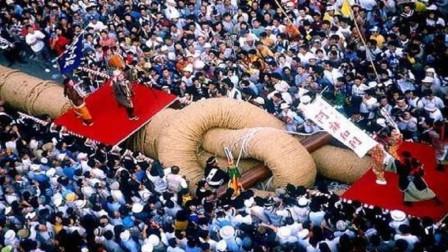 世界上最大的拔河比赛, 绳子重40吨靠卡车送来, 每年近2万人参赛