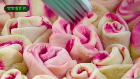 来尝一下像玫瑰花一样的面包