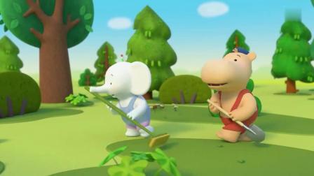缇娜托尼:小猪们去森林里了,缇娜也想去,托尼让它继续听故事!