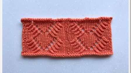镂空V形花样,边缘点缀浮线,立体大气,织长款开衫很漂亮编织的全部视频