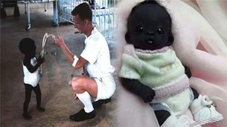 世界上最黑的宝宝, 牙齿眼睛都是黑色, 网友: 确定不是PS?