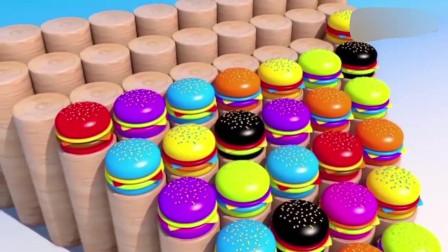 益智动画, 蛋糕组成正反三角形教宝宝学习数字