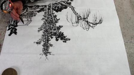 李学义国画: 山水画中衬托物的基本画法和步骤