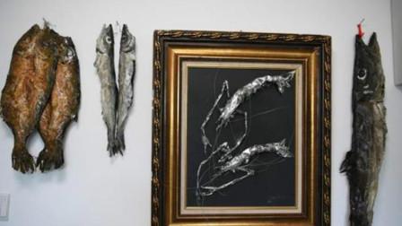 吉林55岁美术老师用铁皮做成鱼虾