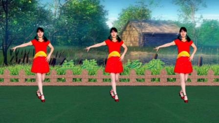 益馨广场舞 《走过咖啡屋》基础入门恰恰步 健身舞