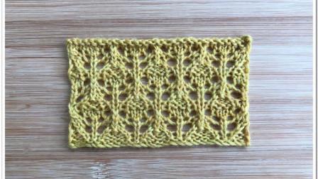 别样叶子花,错开排列,简洁大方,很漂亮的围巾开衫花样编织方法图