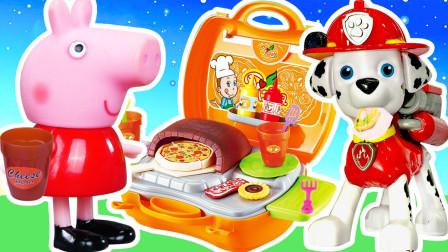 玩具快跑 小猪佩奇汪汪队手提披萨店!