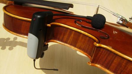 木箱小提琴月琴动力乐器户外无线麦克风 无线演出系统的安装演示