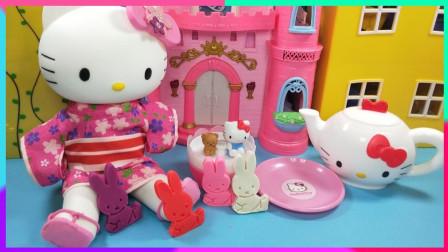 灵犀小乐园之美食小能手 凯蒂猫的下午茶饼干,小兔子米菲超级可爱的