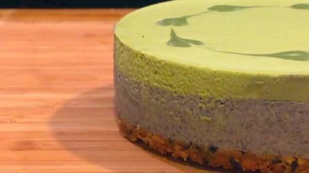 又一个精心的甜点教学 抹茶黑芝麻免焗蛋糕