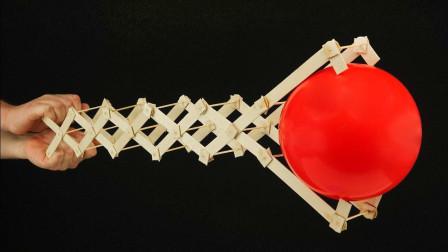 非常有趣的小手工DIY, 用28根冰棒棍制作机器人机械手