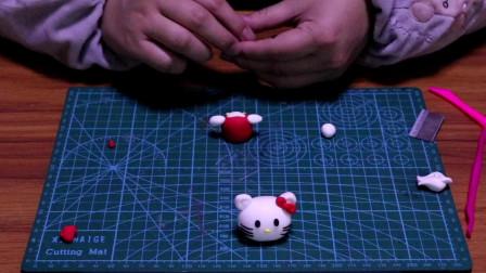 DIY纯手工黏土制作教程超可爱的迷你hello kitty猫!
