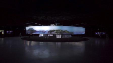 由起源眺望未来: 散发微光的互动圆顶帐篷