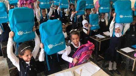 Delivering schoolbags for education