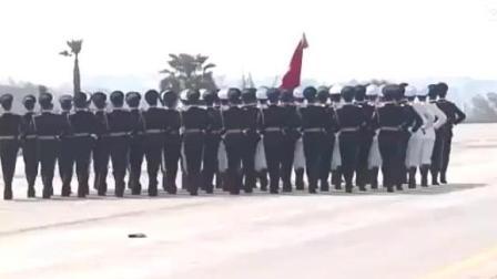 超清版! 中国三军仪仗队亮相巴基斯坦日