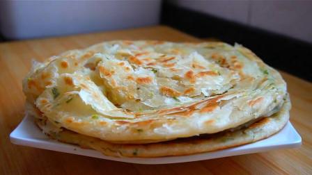 娟子教你做家常葱花饼, 不用油酥, 个个酥脆又起层, 比买的都好吃