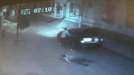 男子当街强掳女学生上车 监控拍下全过程
