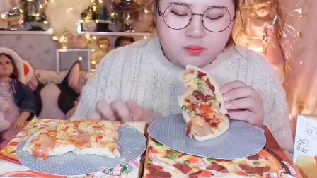 吃货肉姐今天吃: 披萨