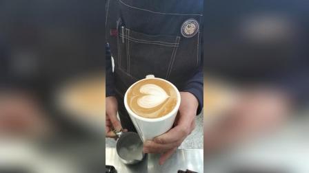咖啡拉花, 爱心。
