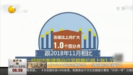 第一时间 辽宁卫视 2019 12月70个大中城市房价数据出炉:一线城市新房价格涨幅扩大