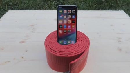 有钱任性, 土豪想看看iPhone xs被鞭炮炸了会怎么样?