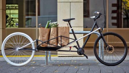 能拉长的自行车, 展开秒变货架, 承重120斤, 下班买菜太方便