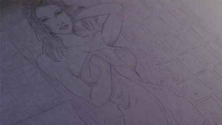 小伙是一个漫画家, 在纸上画了一个女孩, 结果女孩活了过来