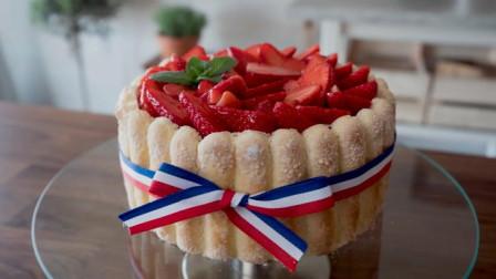 可爱草莓蛋糕制作全过程, 今天你吃了吗?