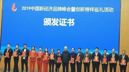 2019中国新经济品牌峰会暨创新榜样巡礼活动留念