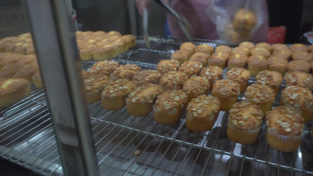 贵州街边拔丝蛋糕, 酥酥软软还带有肉松的味道, 7块钱就够吃了