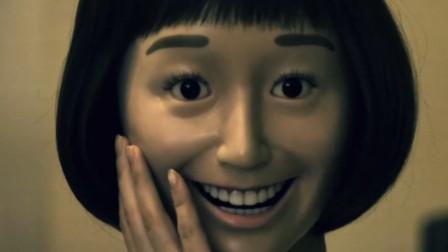 女孩常年微笑待人, 却突然恢复不了脸型, 变成了陶瓷假脸