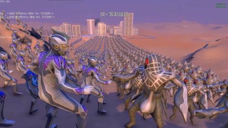 史诗战争模拟器: 1000个雷杰多奥特曼挑战1000个怪兽乌罗加