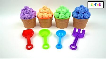 亲子英语-史莱姆橡皮泥和泡沫球中的奇趣蛋玩具