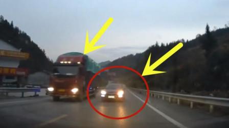女司机开车逆行超车, 险些酿成惨祸, 几秒后老公下车当场暴怒
