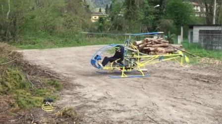 大叔自制直升机试飞, 结果要笑哭了, 网友: 再等等!