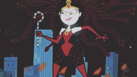 """飞天小女警: 化身""""美杜莎""""的""""女王"""", 一根头发就非常厉害了"""