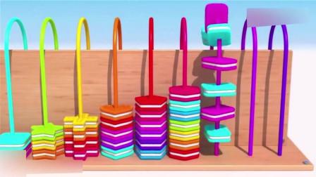 幼儿色彩启蒙: 各种形状地彩色饼干穿算珠