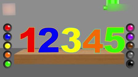 幼儿色彩数字启蒙: 3D彩色足球围成十个数字 一起认识它们吧