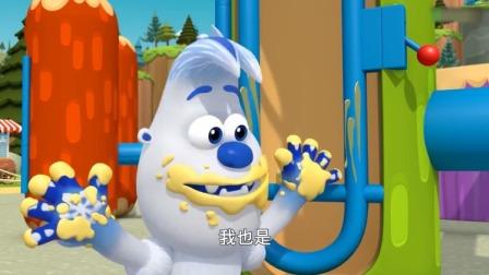 森林小卫士罗布:罗布塔可和达达要去玩,可手上都是黄油!