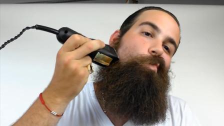 国外大叔剃胡子, 剃完简直换了一个人, 盘他就完事了