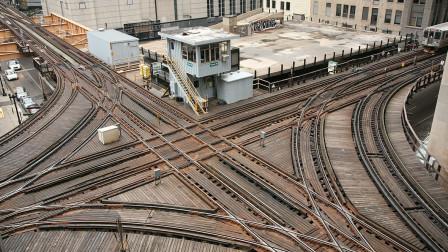 美国芝加哥的L线铁路, 路线复杂, 和魔都重庆有一拼!