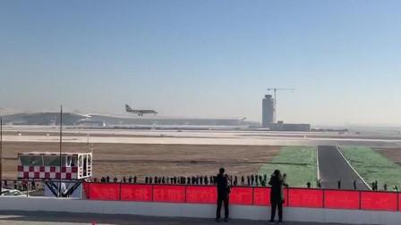 北京大兴国际机场 迎来第一架校验飞机