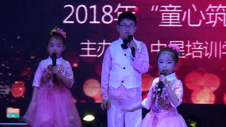 中星培训学校跨年晚会吉他+声乐表演《大手拉小手》