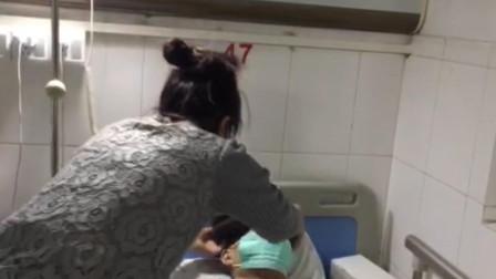 广东广州 重症丈夫想放弃治疗 妻子不离不弃令人潸然泪下!