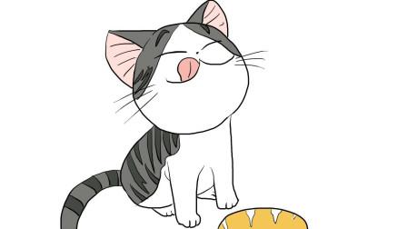 可爱贪吃的小猫咪儿童卡通简笔画