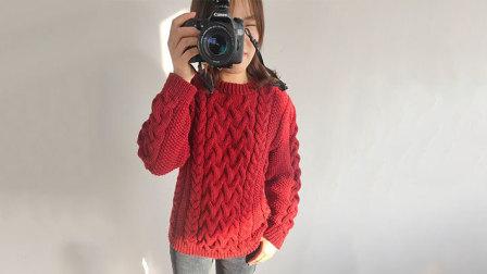 毛儿手作-朱一龙同款毛衣棒针毛衣新手视频教程毛线编织简单方法