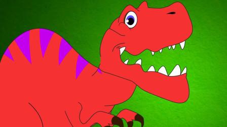 亲宝恐龙世界乐园儿歌:Tyrannosaurus Rex 霸王龙锋利的牙齿会咬人