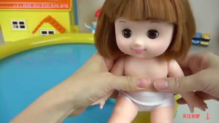 【宝宝玩具 玩偶 过家家】Baby doll and Pet dog Sand play