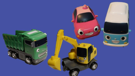 迷你巴士汽车小汽车玩具拆箱